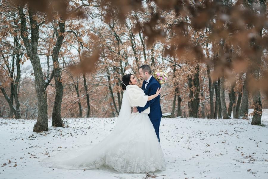 Φωτογράφιση χειμερινού γάμου στην Θεσσαλονίκη