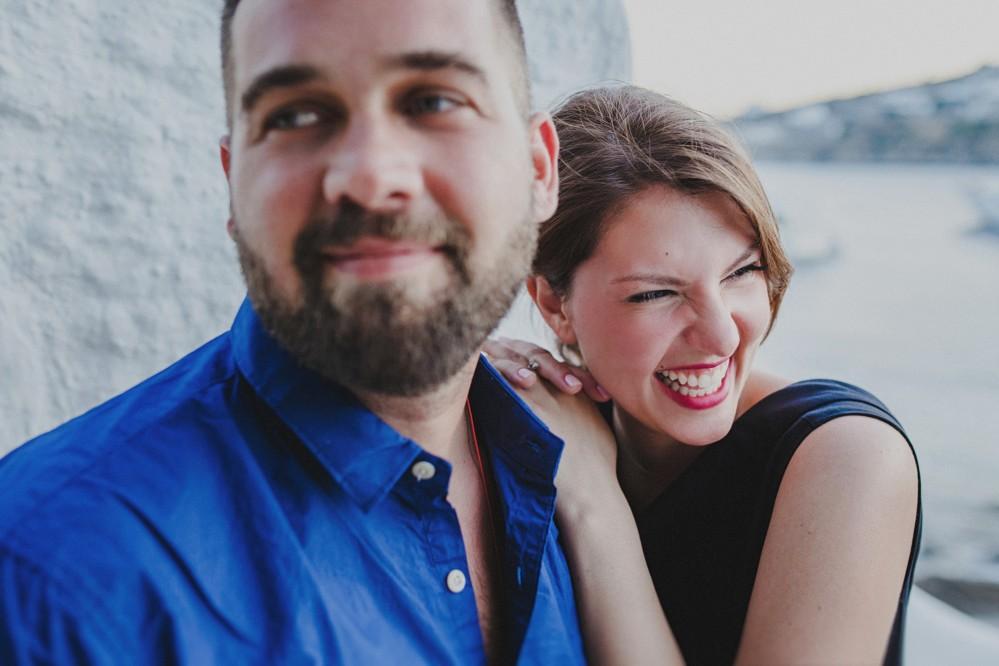 Φωτογραφίες ευχολογίου στην Μύκονο Alex & Ντίνα