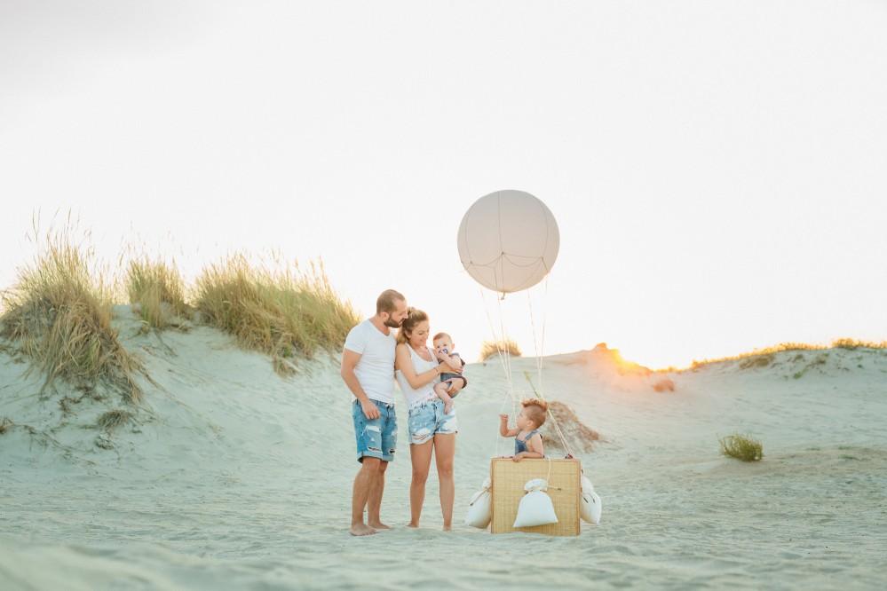 Καλοκαιρινή οικογενειακή φωτογράφηση στη παραλία